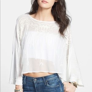 🧚🏻‍♀️Free People Embroidered Front Blouse Top XS